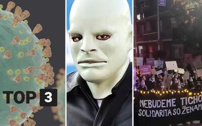 TOP 3 v pondelok: Delta variant dobyl Slovensko, Kanye West je v Európe ako Fantomas, protest proti sprísneniu interrupcií