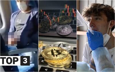 TOP 3 v stredu: Ďalší sexuálny deviant masturboval vo vlaku, čaká nás 3 500 pozitívnych denne a bitcoin prekonal rekord