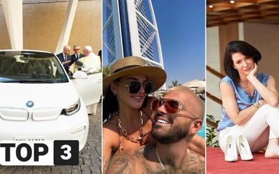 TOP 3 v stredu: Plačková údajne obchodovala s kokaínom, Cigánikovú napadli cestou do práce a pápež má nové BMW
