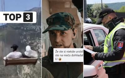 TOP 3 v stredu: Prísny hraničný režim je pozastavený, armáda vysmiala Slovenských brancov a nad roklinou sa roztrhla hojdačka