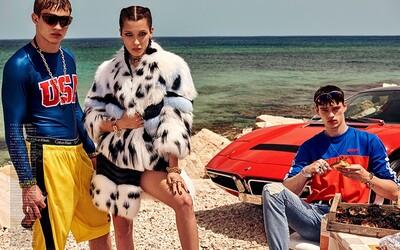 Topmodel Filip Hrivňák a krásná Bella Hadid v retro editorialu pro japonský Vogue