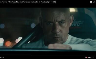 Toretto spomína na Briana O'Connera, rozvracia rodinu a ukazuje svoju najtemnejšiu stránku v novej upútavke pre Rýchlo a Zbesilo 8
