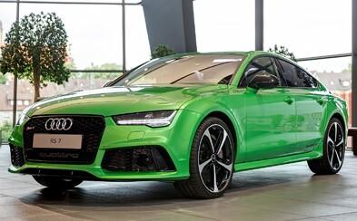Toto chrumkavé, jablkovo zelené Audi RS7 Sportback s 560 koňmi vyzerá naozaj neodolateľne!