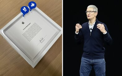 Toto dostaneš po piatich rokoch práce pre Apple. Zamestnanec sa pochválil darčekom, ktorý podpísal sám Tim Cook