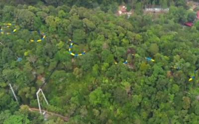 Toto je najdlhší tobogan na svete. Prechádza džungľou a meria viac ako kilometer