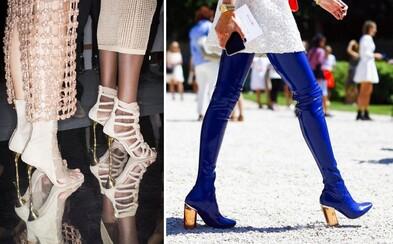 Transparentné opätky, hravé zdobenie a ďalšie trendy, ktoré aktuálne vedú medzi dámskymi topánkami