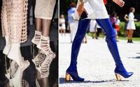 Transparentní podpatky, hravé zdobení a další trendy, které aktuálně vedou mezi dámskými botami