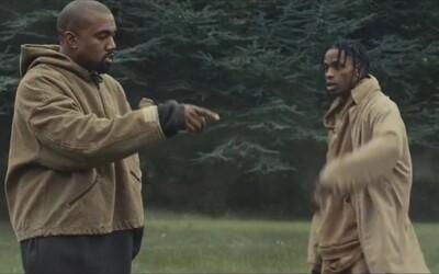 Travis Scott a Kanye West prehovárajú k hrobu nenásytných vydavateľstiev vo videu Piss On Your Grave