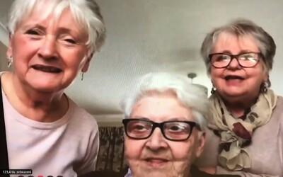 Tři babičky se k sobě nastěhují, aby nebyly během karantény osamotě. Plánují pít levné víno a dívat se na Netflix