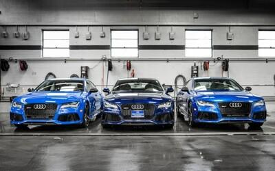 Tri nádherné, 560-koňové RS7-čky od Audi pod jednou strechou!