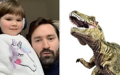 Trojročné dievčatko napísalo pesničku o dinosauroch, ktorí sa do seba zaľúbili. Jej text ťa dojme k slzám