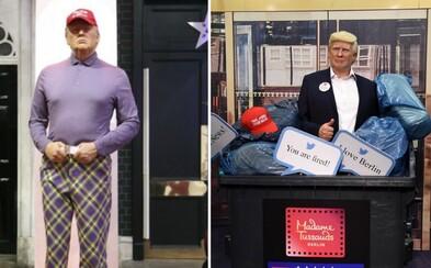 Trump hrál golf během prohlášení Bidena vítězem voleb. V Londýně převlékli jeho voskovou figurínu do golfového outfitu