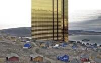 Trump se vysmívá Grónsku. Na Twitter přidal fotomontáž zlatého mrakodrapu mezi dřevěnými domky