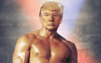 Trump zdieľal fotku so svojou hlavou na tele Rockyho. Nikto nevie, čo to má znamenať