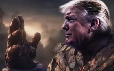 Trumpov tím prezidenta prirovnal k Thanosovi z Avengers: Endgame. Ten však zabil polovicu populácie