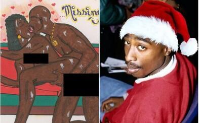 Tupacova erotická kresba ide do dražby