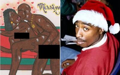 Tupacova erotická kresba jde do dražby