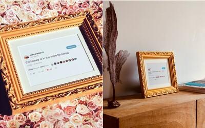 Tweety Kanyeho Westa sú na predaj. Jeho myšlienky v pozlátených rámoch si môžeš kúpiť za 50 dolárov