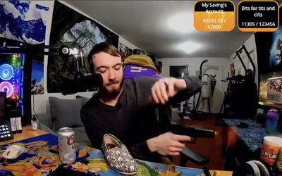 Twitch streamer se opil a před kamerou vystřelil ze zbraně. Okamžitě dostal ban a přišel o pravidelný příjem
