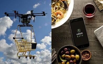 Uber Eats hodlá začátkem roku 2021 dovážet jídlo pomocí dronů