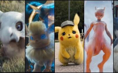 Úchvatný trailer na Detective Pikachu odhalil spoustu nových Pokémonů, které uvidíme i ve filmu