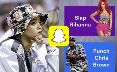 Udeřil bys raději Rihannu, nebo Chrise Browna? Zpěvačku pobouřila reklama na Snapchatu, která se trefuje do obětí domácího násilí
