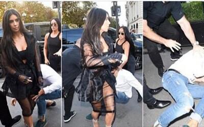 Ukrajinec proklouzl přes ochranku Kim Kardashian a políbil ji rovnou na zadek. Nepochopený žertík z něj udělal nepřítele společnosti