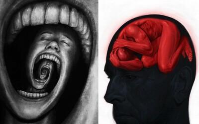 Umělci zachytili na plátno děsivé pocity vycházející z deprese. Jak byste si ji představili vy?