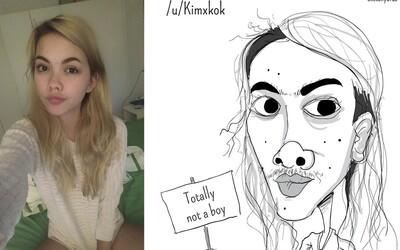 Umelec vtipným spôsobom zvýrazňuje ľudské nedokonalosti. Nepoužíva na to slová, ale zveličené ilustrácie