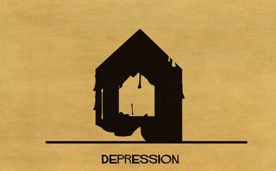 Umělec výstižně ilustruje mentální onemocnění pomocí architektury