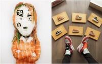 Umelec vytvára pomocou sushi realistické podobizne raperov či ikonické modely tenisiek