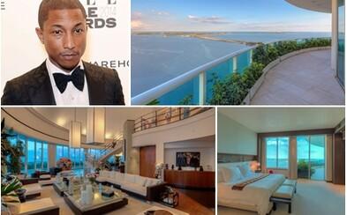 Umelecký penthouse Pharrella Williamsa s krásnym výhľadom na záliv môže byť  tvoj za 10 miliónov eur