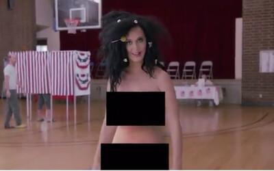 Úplně nahá Katy Perry láká Američany k prezidentským volbám