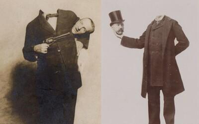 Úprava fotografií z přelomu 19. a 20. století: Bezhlavé postavy na bizarních dílech umělců