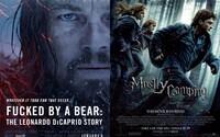 Úprimné plagáty k filmom si uťahujú zo zneužitého Leonarda DiCapria aj Harryho Pottera na stanovačke