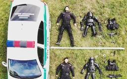 Už aj slovenskí policajti sa odfotili ako lego postavičky. Výzvu prijala pohotovostná motorizovaná jednotka z Košíc