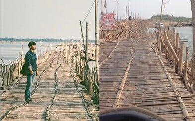 Úžasný kilometrový bambusový most v Kambodži vždy zbourají, aby ho za rok postavili znovu