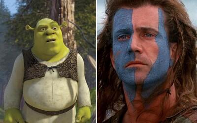 Užijete si historické boje, drogy aj humor. V telke pôjde epické Braveheart, sfetované Strach a hnus v Las Vegas či Shrek 2