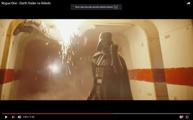 Užite si Vaderovo besnenie z konca Rogue One vo videu s vysokou kvalitou!
