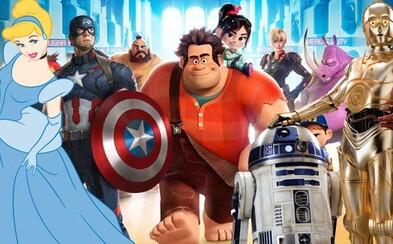 V animáku Wreck-It Ralph 2 uvidíme všetky legendárne princezné od Disney, postavičky z legendárnych hier, ale aj zo Star Wars a Marvelu