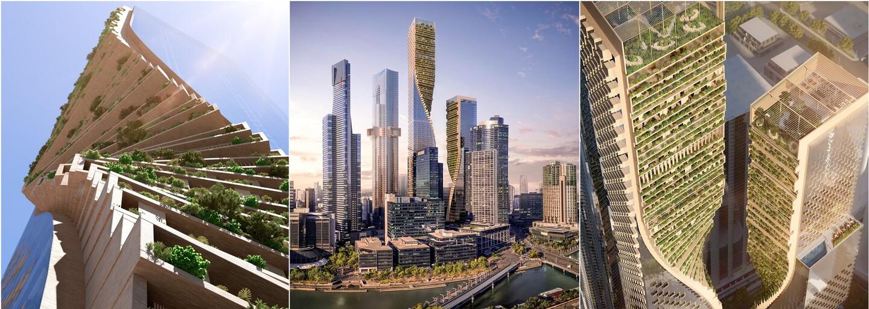 V Melbourne brzy vyroste nejvyšší australský mrakodrap. Na střeše točité budovy je botanická zahrada