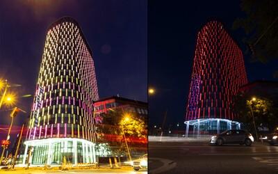 V Bratislave budeme mať svietiacu vežu! Twin City Tower v noci rozžiari vyše 175 000 LED svetielok