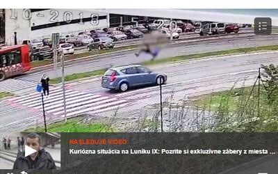 V Bratislavě srazilo auto kluka na přechodu pro chodce. Odhodilo ho daleko od místa nárazu