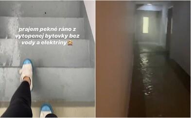 V bratislavskom bytovom komplexe bojujú obyvatelia s potopou. Hrôzostrašné zábery zdieľala aj youtuberka Moma