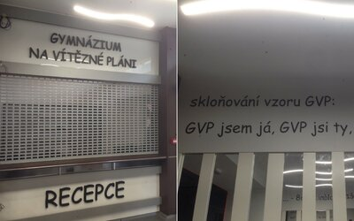 V budově pražského gymnázia použili nápisy psané Comic Sansem. Studenti proti tomu sepsali petici