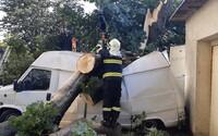 V Česku už řádí bouře: Hasiči hlásí desítky incidentů, silný vítr láme stromy