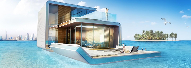 V Dubaji byl představen plovoucí dům, který se z poloviny nachází pod hladinou moře