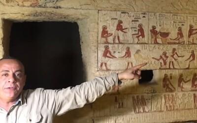 V Egyptě našli vzácnou nedotčenou hrobku starou více než 4 400 let