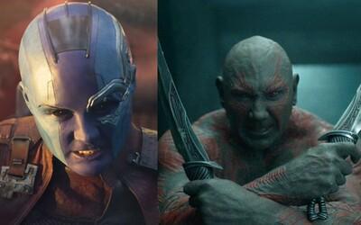 V éře CGI efektů zasílá pozdrav staromódní make-up. Nebula a Drax nepotřebují moderní technologie
