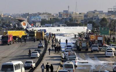 V Íránu havarovalo další letadlo. Stroj skončil uprostřed rušné ulice